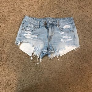 White wash shorts